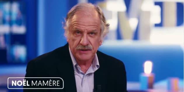 """Noël Mamère sur le plateau de """"Le Média"""" où il animait un entretien."""