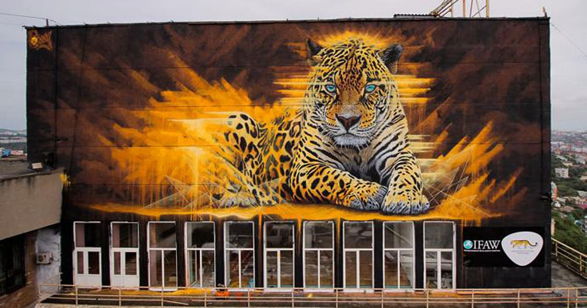 South African Street Art Brings Endangered Wildlife To Russia