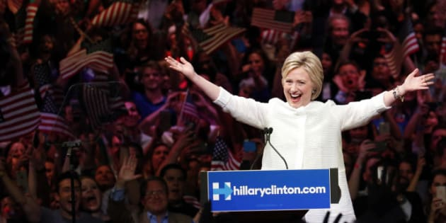 Hillary Clinton on Tuesday reflected on the movement that helped lead up to this historic moment.