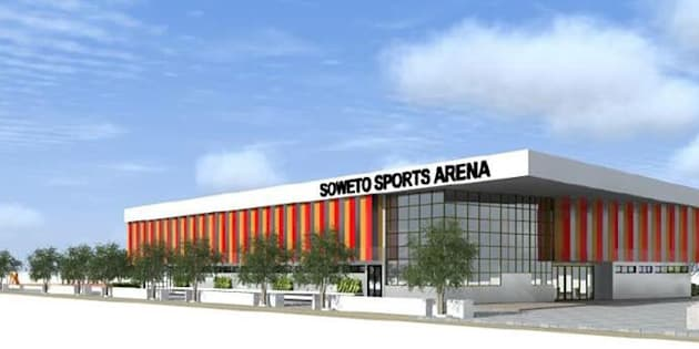 An artist's rendition of Soweto's new sports centre, which is reportedly nearing completion.