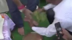 WATCH: BJP Worker In Jharkhand Washed MP's Feet And Then Drank The
