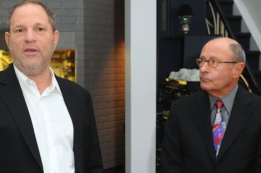 Harvey Weinstein and Peter Bart attend the launch party for Bart's book 'Infamous Players' in New York City on April 25, 2011.