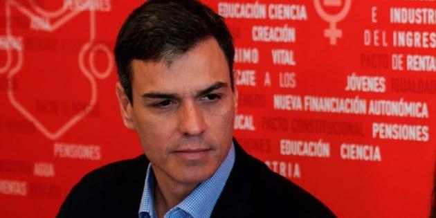 Pedro Sánchez, en Ferraz, este miércoles.