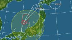 台風20号、日本海を北上 関東以西も所々で雷雨
