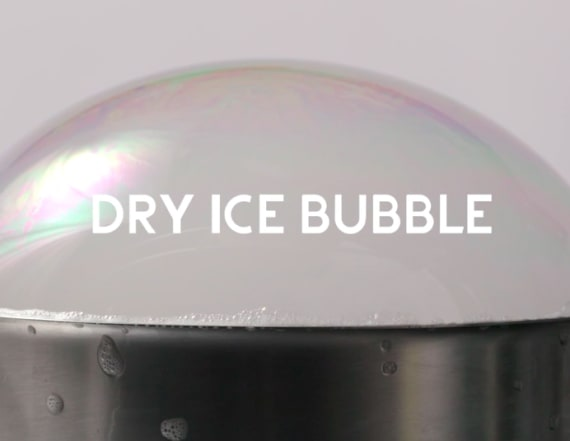 5 easy steps to make a massive dry ice bubble