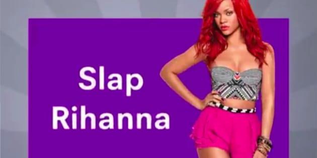 Une pub qui circule sur Snapchat propose aux utilisateurs de gifler Rihanna.