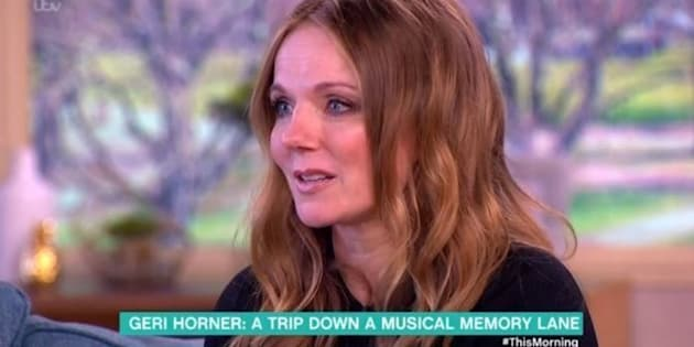 Geri Horner made a tearful appearance on 'This Morning'