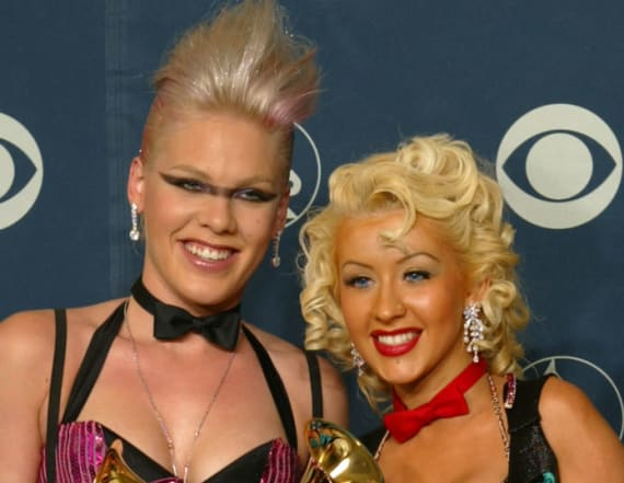 Christina Aguilera once tried to punch Pink