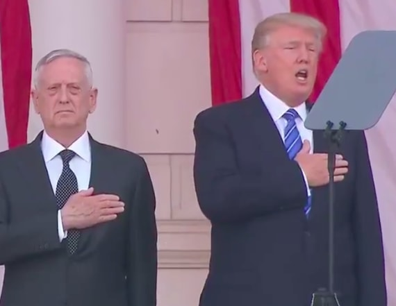 Twitter trolls Donald Trump singing national anthem