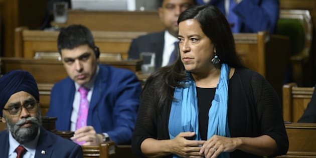 Liberal MP Jody Wilson-Raybould speaks in the House of Commons on Parliament Hill in Ottawa on Feb. 20, 2019.