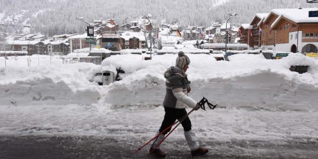 Zermatt, dans le canton du Valais où s'est déroulé l'avalanche, début janvier 2018