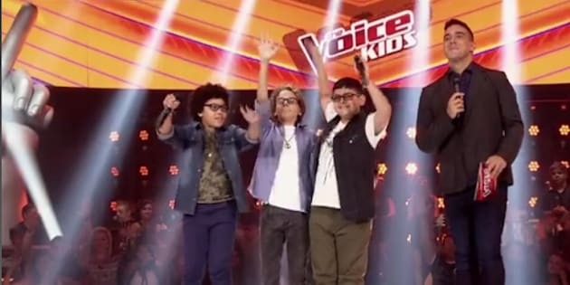 Arthur, Brunno e João emocionaram e agitaram a plateia do 'The Voice Kids' ao cantar Michael Jackson