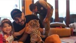 Ces photos de Karim Benzema avec un bébé tigre ont indigné Laurence Parisot, le footballeur