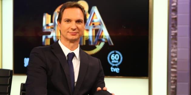El presentador Javier Cárdenas durante la presentación del programa ''Hora Punta''.