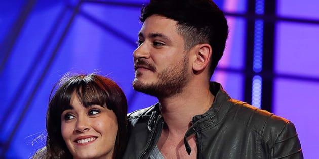 Aitana y Cepeda durante el concurso televisivo.