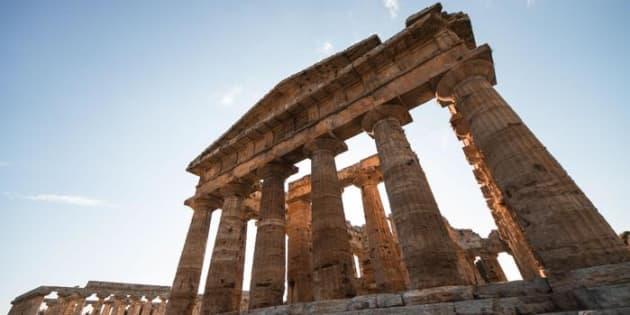 Il parco archeologico di Paestum. ANSA/CESARE ABBATE