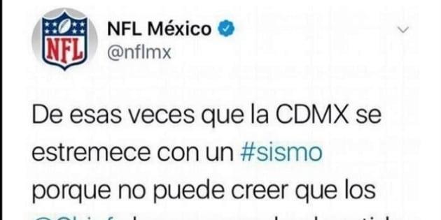 NFL bromea sobre el sismo en México