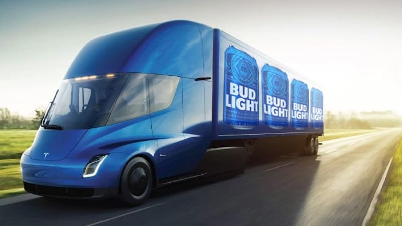 Anheuser-Busch orders 40 Tesla electric semis UPDATE: Sysco orders 50
