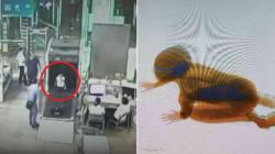 Bambino fugge dal padre in stazione e finisce nel rullo del controllo a raggi