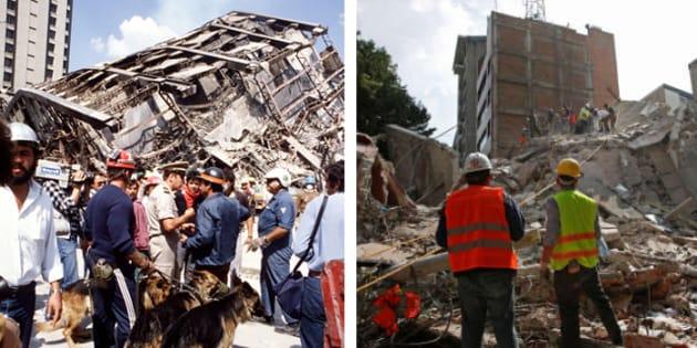 Des images des séismes à Mexico en 1985 et 2017