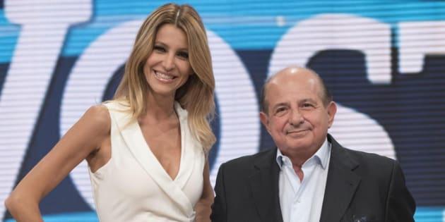 Giancarlo Magalli e Adriana Volpe, durante la presentazione della nuova edizione della trasmissione televisiva di Rai Due ''I fatti vostri'', presso gli studi di Cinecitta' a Roma, 8 settembre 2016. ANSA/GIORGIO ONORATI