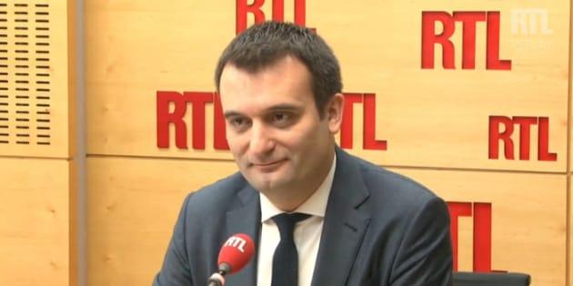 "Florian Philippot estime que la campagne ""Farid Fillon"" c'est la liberté d'expression."