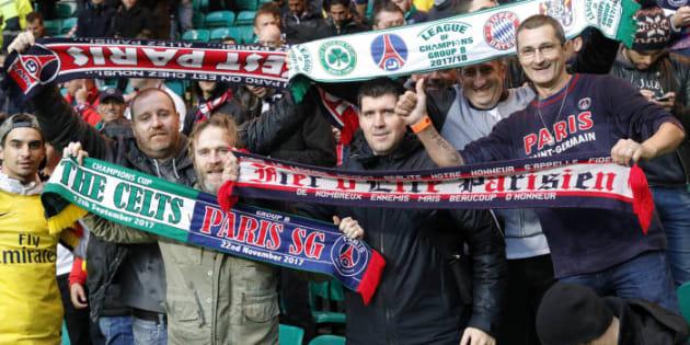 Celtic Glasgow/PSG: le large score n'a pas empêché les supporters des deux camps de communier