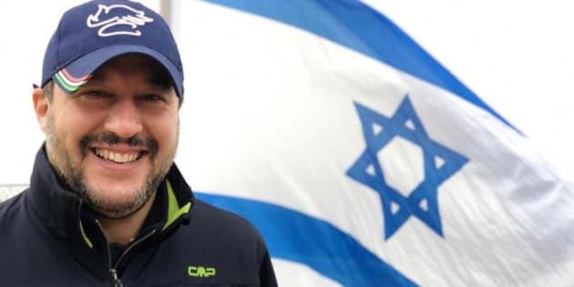 I tweet di Salvini dal confine tra Israele e Libano e la con