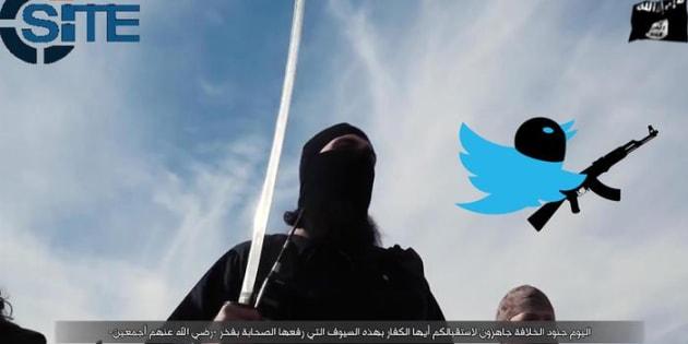 """Foto di jihadisti dell'Isis pubblicate sul profilo Twitter di Rita Katz, fondatrice del sito americano """"Site"""" che monitora i siti dell'estremismo islamico."""