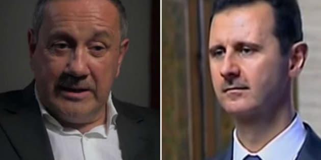 Firas Tlass et Bachar al-Assad dans le documentaire d'Antoine Vitkine.