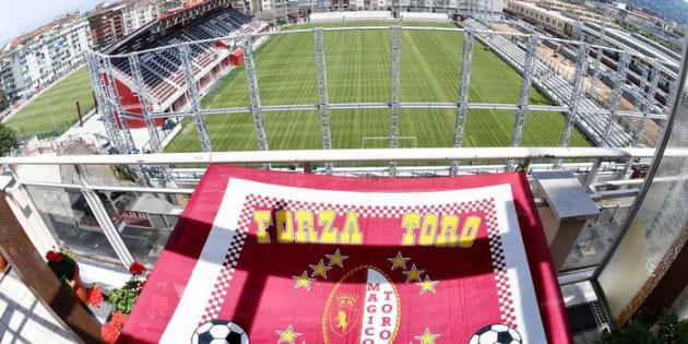 Vedute in anteprima del nuovo Stadio Filadelfia dove dopodomano si esibir� la squadra esordienti del Torino, Torino, 23 maggio 2017. ANSA/ALESSANDRO DI MARCO