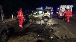 Ubriaco alla guida travolge auto a Trani, tre morti
