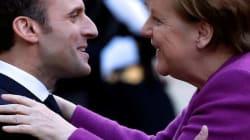 Ya huele a europeas: Macron y Merkel están en