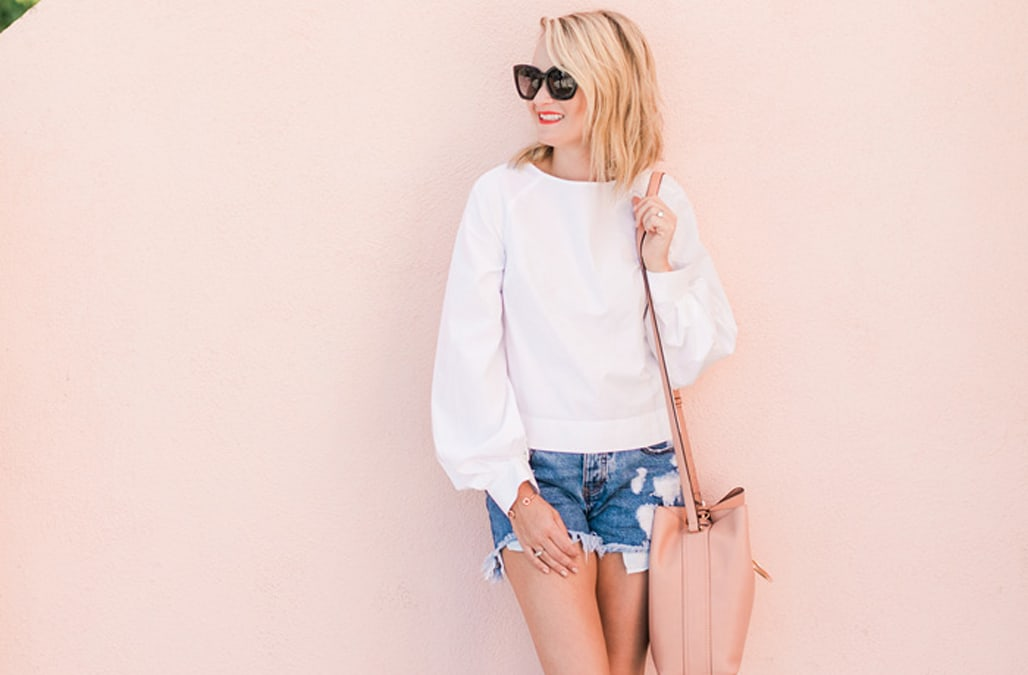 94a6d76dd Street style tip of the day  The chic white blouse - AOL Lifestyle