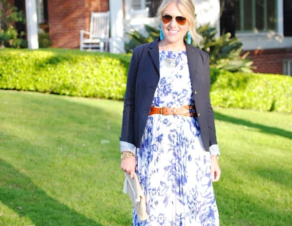Street style tip of the day: Printed maxi dress