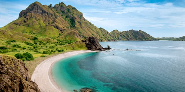 The icon of Komodo National Park - Labuan Bajo in Flores Island- East Nusa Tenggara - Indonesia