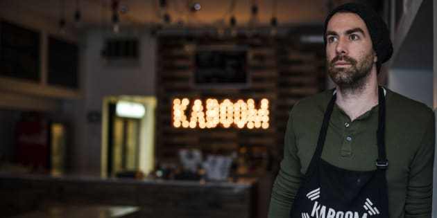 Chris Stevens, owner of Kaboom Chicken restaurant, poses for a photograph in Toronto on Dec. 29, 2017.