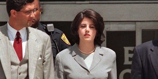 Monica Lewinsky à la sortie d'un témoignage dans l'enquête autour de sa relation avec Bill Clinton.