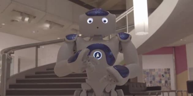 Aggie the robot is a little cheeky.