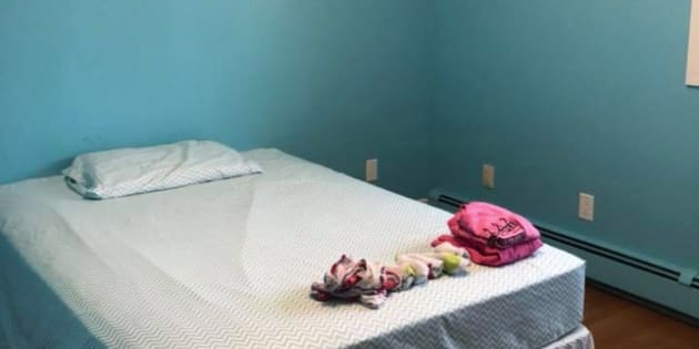 Amanda Mitchell posted three pictures on Facebook of her nine-year-old daughter's room after she stripped it of everything except the young girl's bed and a single change of clothing for the week.
