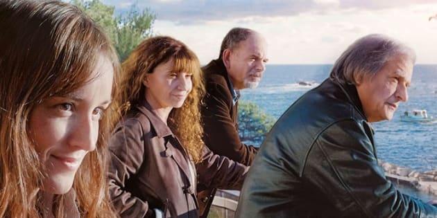 """L'affiche du nouveau film """"La Villa"""" de Robert Guédiguian, sortie au cinéma le 29 novembre, avec (de gauche à droite) Anaïs Demoustier, Ariane Ascaride, Jean-Pierre Darroussin, Gérard Meylan."""
