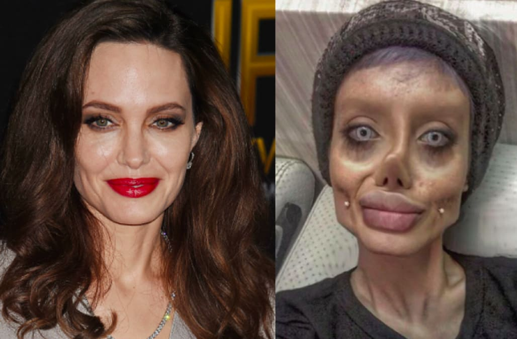 Image result for Woman claims she underwent 50 plastic surgeries to look like Angelina Jolie