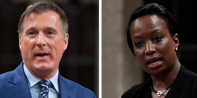 Conservative MP Maxime Bernier accuses Liberal MP Celina Caesar-Chavannes of focusing too much on race.