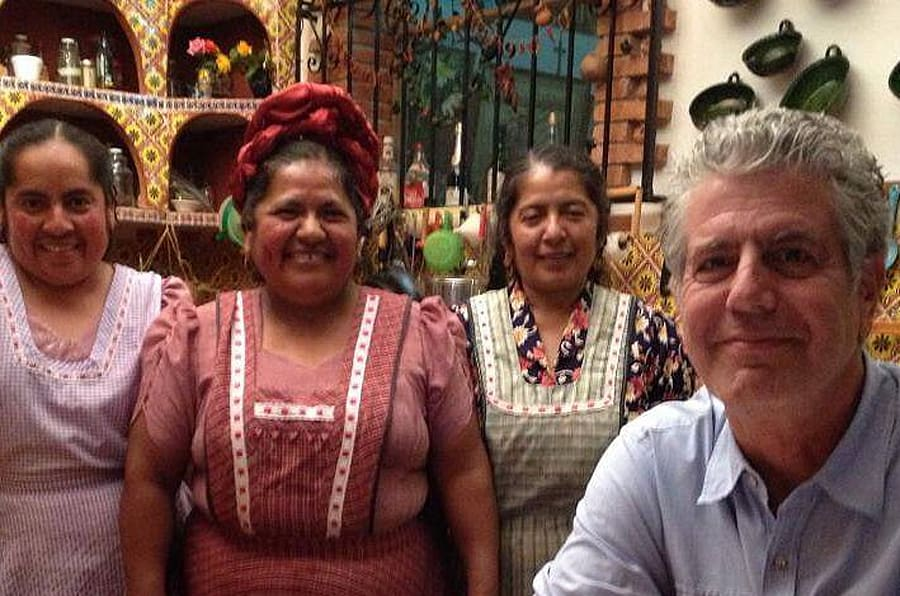 Anthony Bourdain en México.