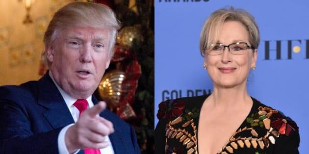"""Donald Trump réagit au discours de Meryl Streep aux Golden Globes 2017: """"elle est à la botte d'Hillary"""""""
