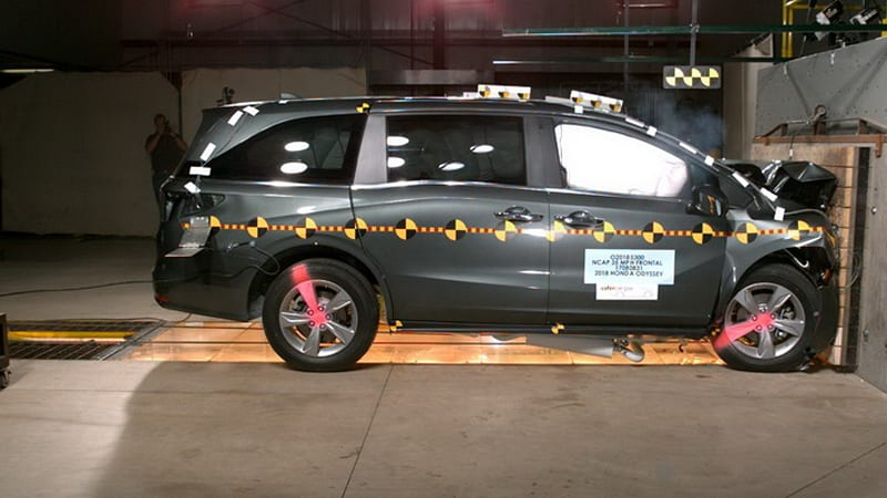 Honda Odyssey gets top safety ratings in insurance, government crash tests