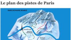 Cette carte des pistes de ski à Paris a été validée par un maire de la