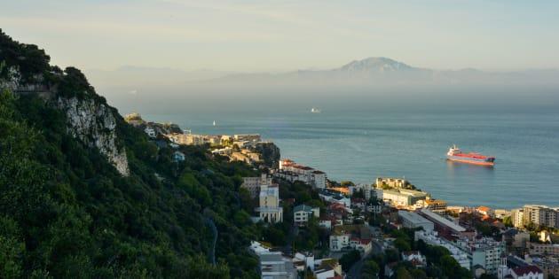 Vue sur le Maroc depuis Gibraltar.