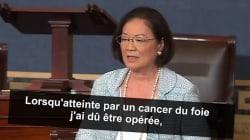 Le plaidoyer très émouvant de cette sénatrice atteinte d'un cancer, en faveur