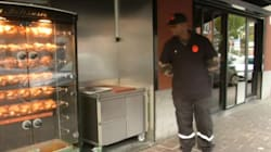 À Lille, des agents de sécurité devant des